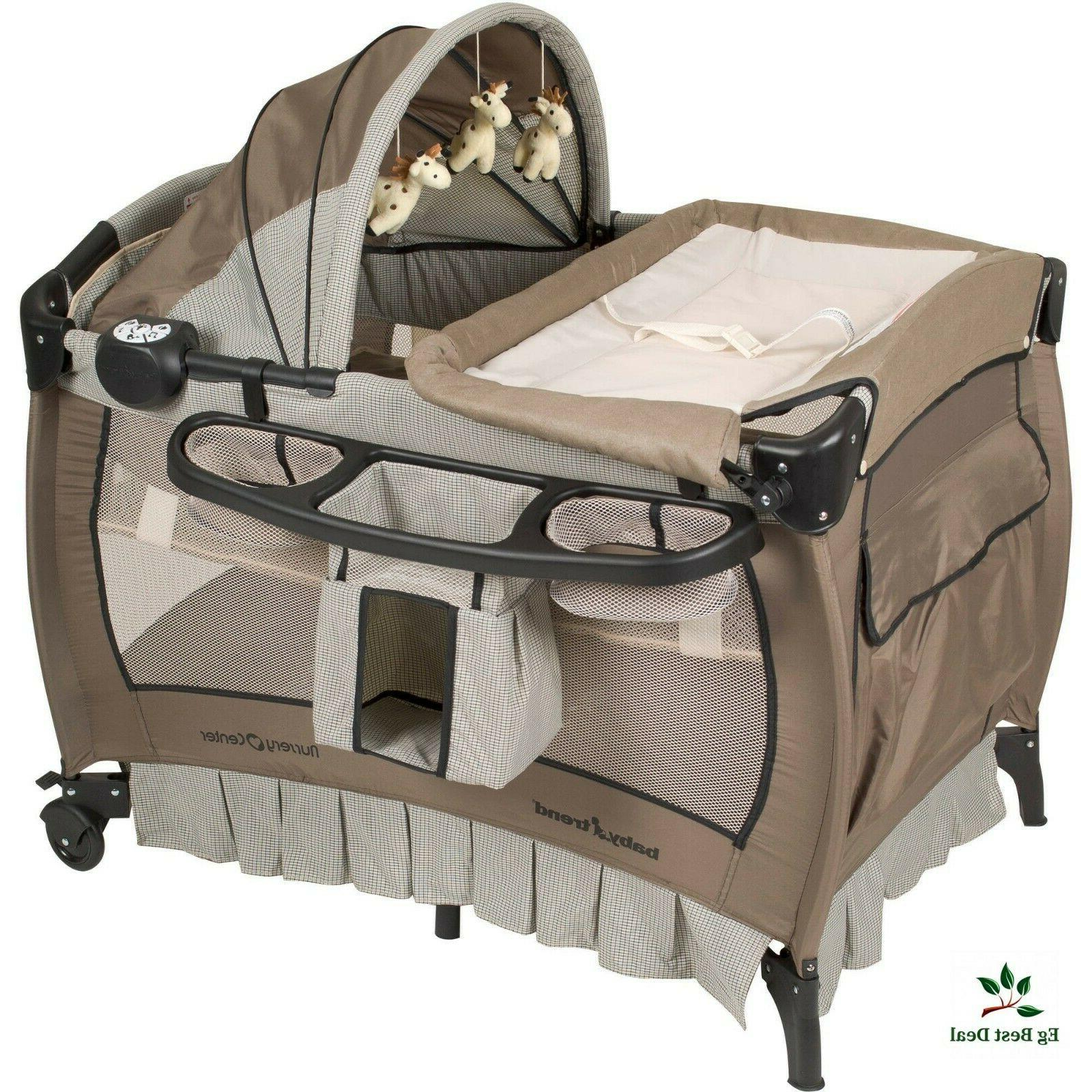 Baby Center Play Yard Crib Infant Bassinet Changing Table Po