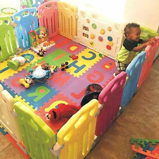 Baby Activity Centre Safety Play Yard Home Open