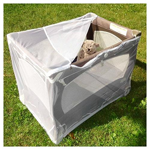 Baby Playpen with by Tedderfield, for 'n Play Easy Zip to Baby, Drawstring Base, Portable Netting Keeps Away Insects