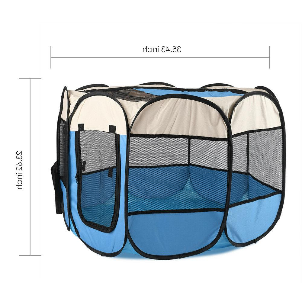 Foldable Playpen Kids Safety Center Play Yard Pen