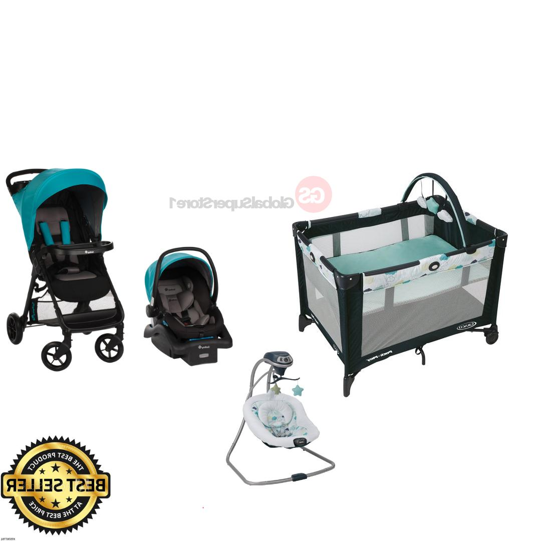 Baby Stroller with Car Seat Glider Swing Playard Travel Syst