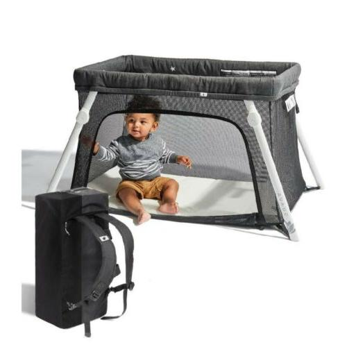 certified nontoxic travel crib backpack portable play