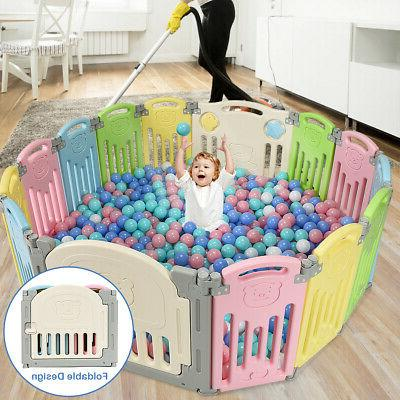 Foldable Panel Center Play Yard w/ Colorful