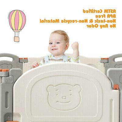 Foldable Baby Panel Activity Play home Lock