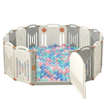 foldable baby playpen 16 panel toys activity