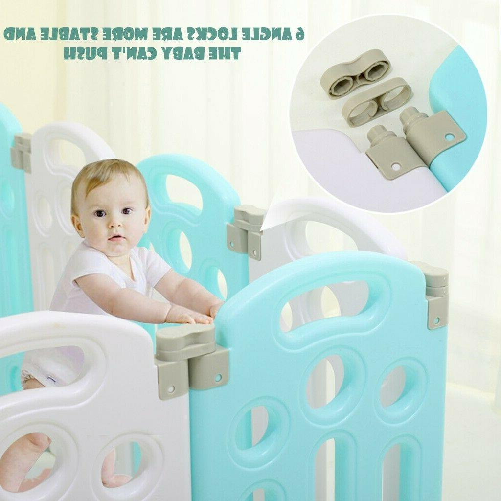 Foldable Baby 14 Panel Fence Centre Home