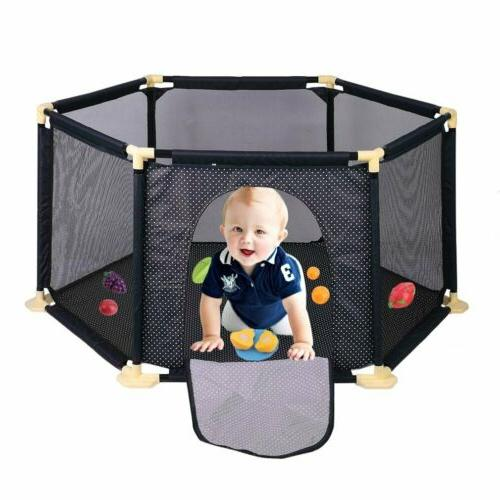 Folding Baby Play Yard With Bag Indoor Safety BE