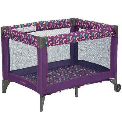 funsport portable compact baby play yard butterfly