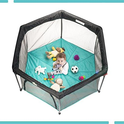 Pack and Play Playard Play Pen for Infants and Lightweight Mesh Baby Playpen with Easily Hand