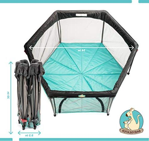 Pack and Playard Play for Infants Babies - Lightweight Playpen with Easily with Hand