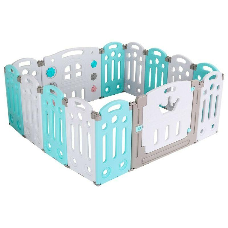 Kids Playpen Panel Safety Play Yard Foldable US