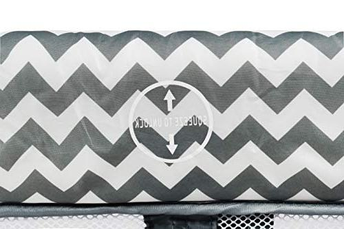 Romp Roost Oversized Playard, Great Twins - Chevron