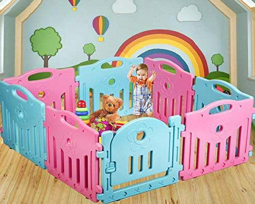 mixed playpen 14 panel safety