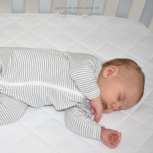 Pack Play Fitted Mattress Cover Waterproof, Safe, Quilted and Soft, Protector Mini Crib and