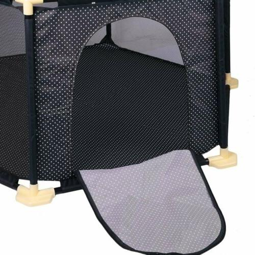 Folding Portable Playpen Play With Travel Bag Indoor Outdoor BE