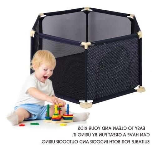 NEW 6-Panel Indoor Outdoor Kids Baby Play Yard Safety BP