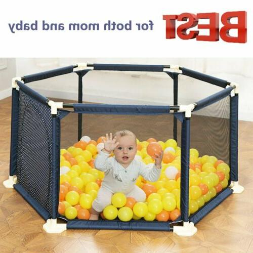 new 6 panel indoor outdoor kids portable
