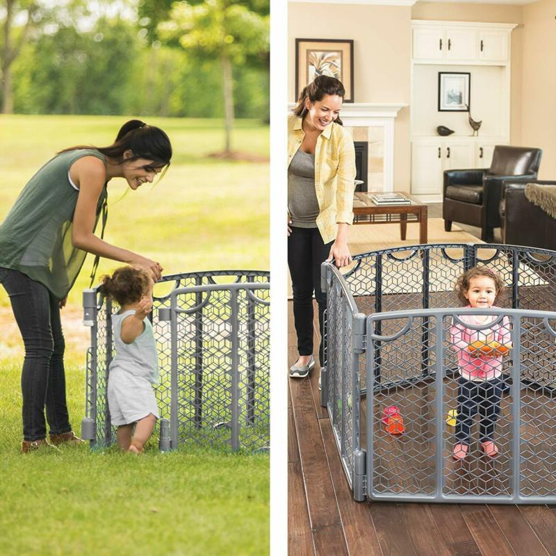 North States Superyard Colorplay Ultimate 6-Panel Play Yard