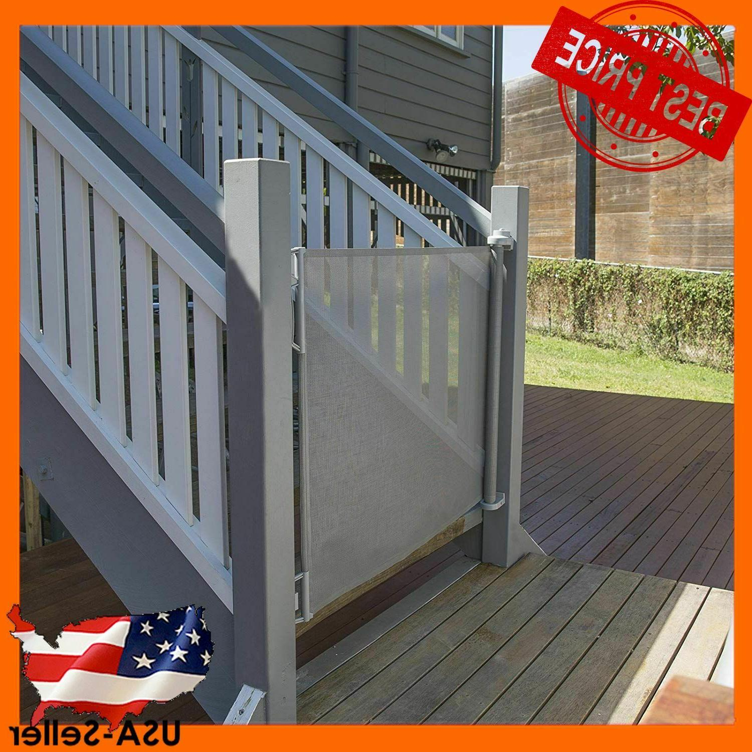 outdoor retractable baby gate extra wide up