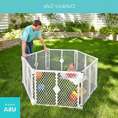 PANEL PLAYPEN Toddler Safety Play Yard Crib Fence Pet Cat Cage