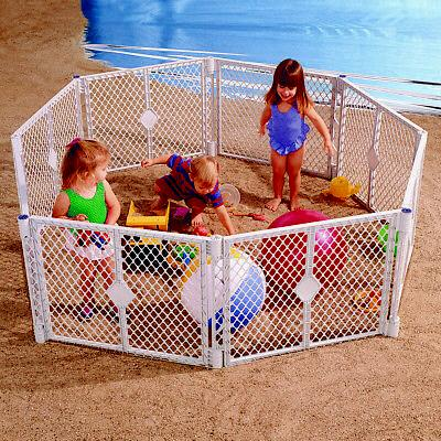 PANEL PLAYPEN Toddler Safety Crib Fence Pet Cat Cage New
