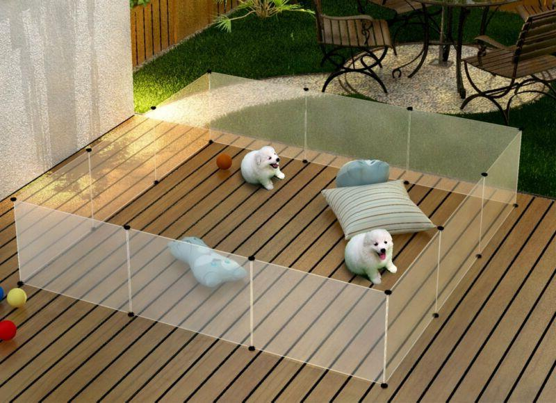 Pet Puppy Playpen Run Crate Enclosure Welping Dog Cage inc F