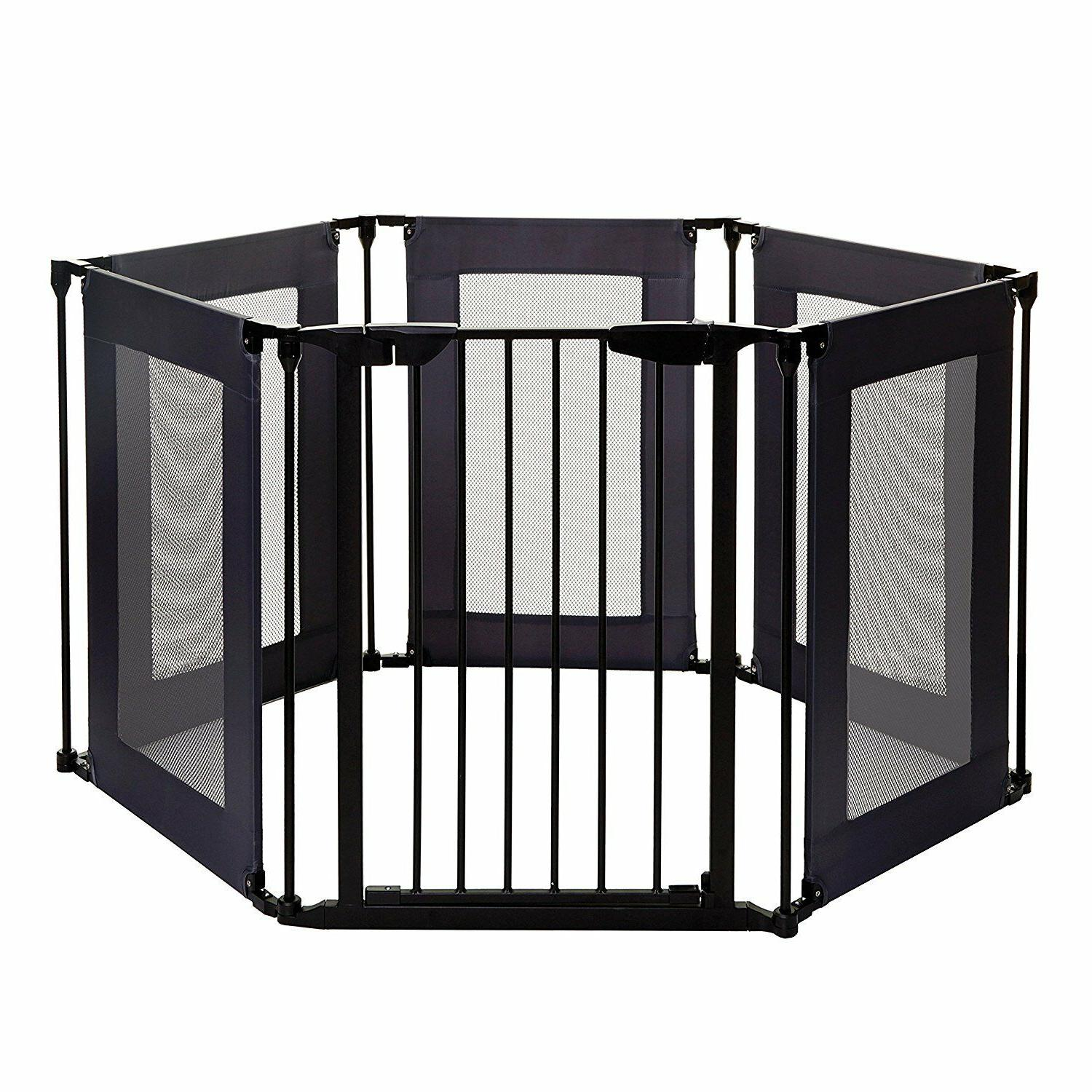 play yard baby safety barrier gate home
