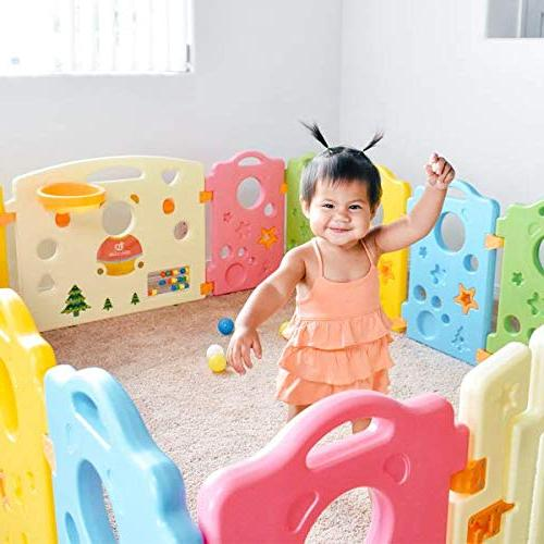 Playpen for Babies and Kids - Multicolor Yard