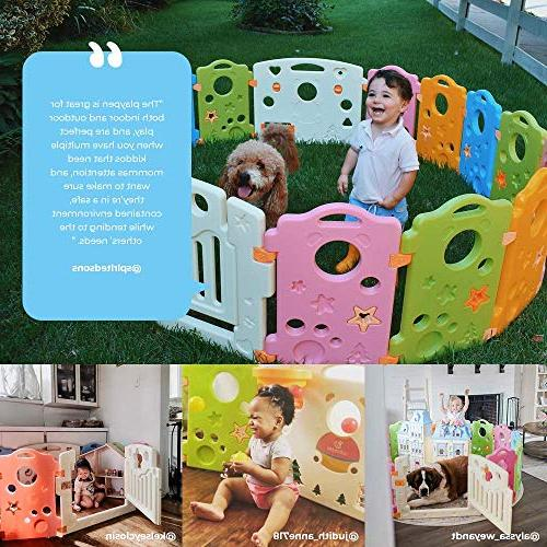 Playpen Center Babies Multicolor 16-Panel Yard