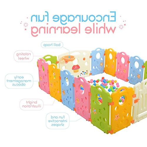 Playpen for Babies and Multicolor Yard