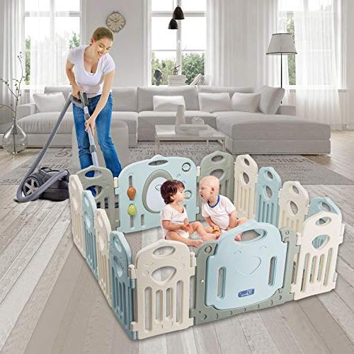 Baby Playpen 14 Panel Safety Home Indoor