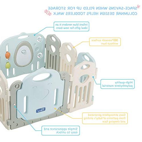 Baby Playpen 14 Activity Centre Safety Play Yard, Home Indoor Pen