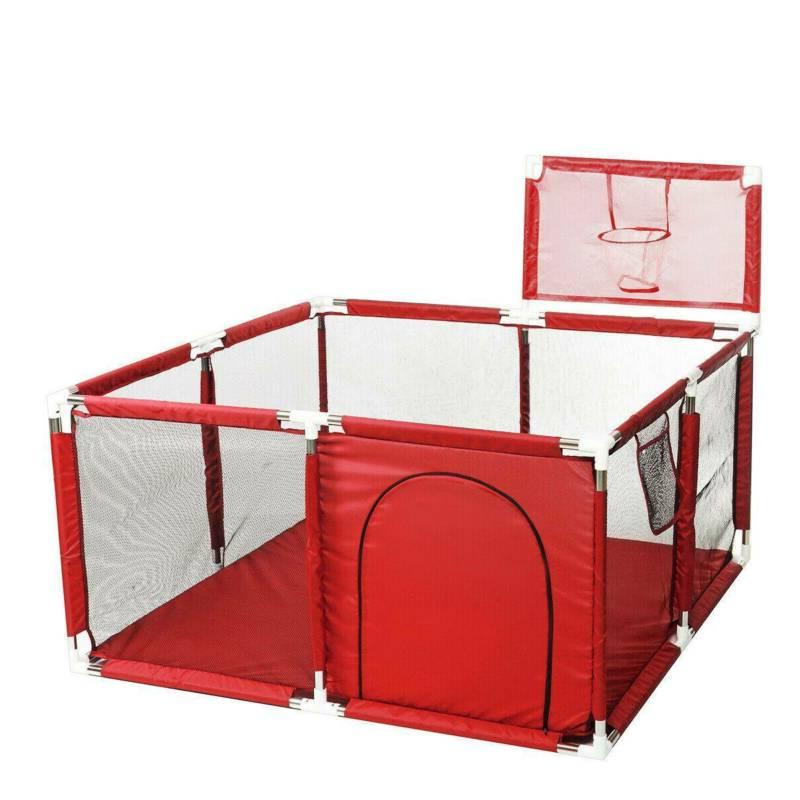Portable Baby Playpen Yard Kids Play Tent Safety Gate 4 Panel