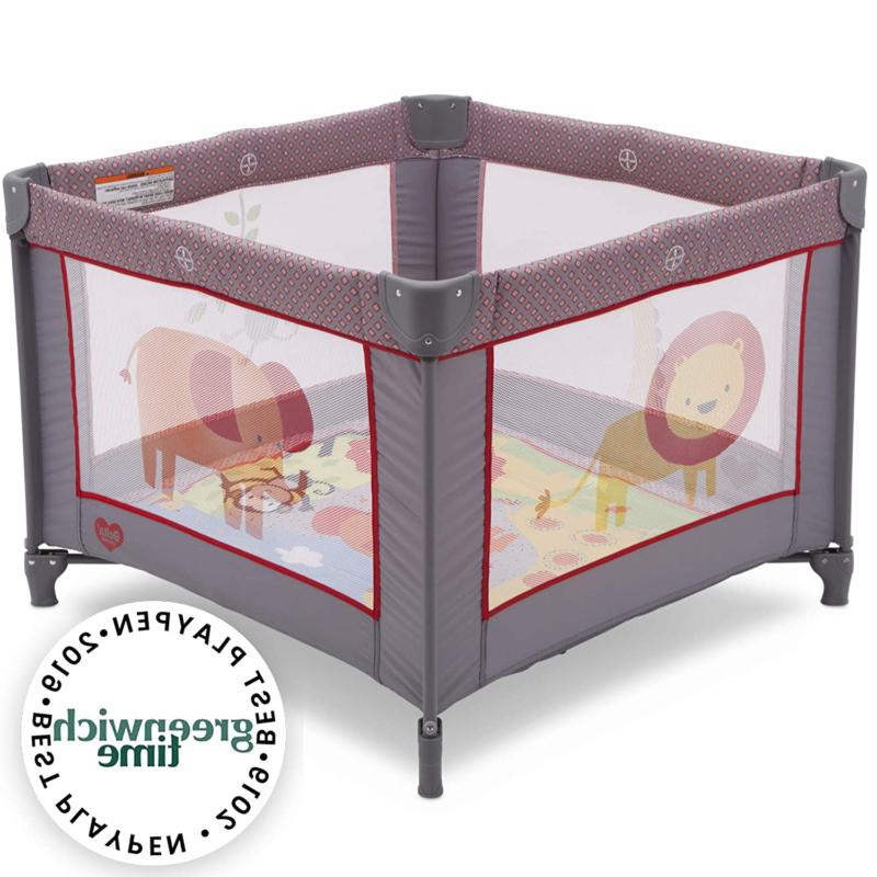 "Portable Playpen 36"" X Playard Safari Pen Yard Foldable"