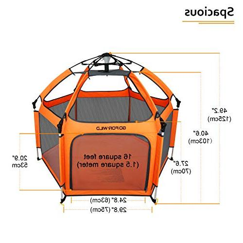 Portable Playard Safety for and Professional Insect Proof Net Anti UV for Outdoor GOFORWILD