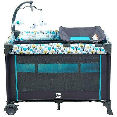 Portable Playard,Sturdy with Comfortable Mattress and Changing Station
