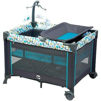 Portable Yard with Mattress Changing Station