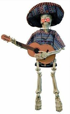 Skeleton Playing Guitar 40in