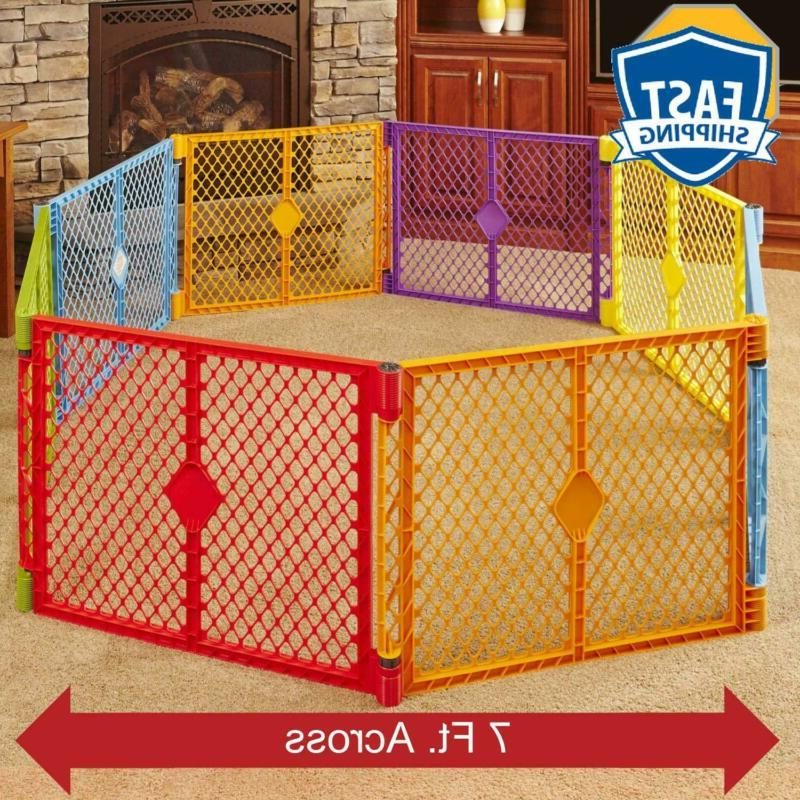 North States Superyard Colorplay 8-Panel Play Play Area - Fo