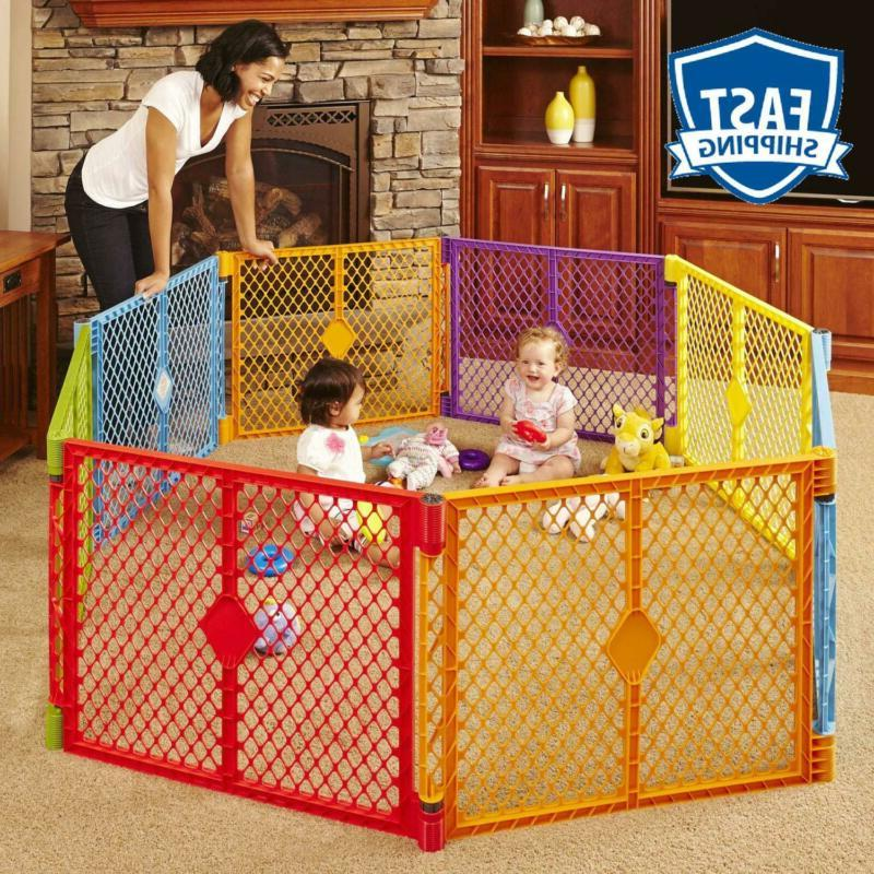 North States Superyard Colorplay 8-Panel Play Yard: Safe Pla