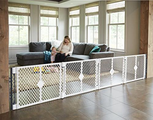 Superyard by North States: to Classic, Colorplay 6-panel 2-panel play into an extra-wide barrier