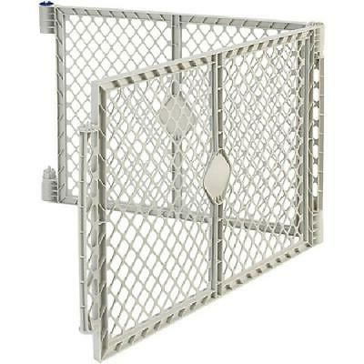 gray two panel superyard extension for baby