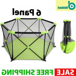 Large Baby Gate Play Yard Pen Crib Playpen Safety Gate Indoo