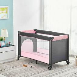 Large Baby Playpen Play Yards Pack Travel Bed Infant Bassine