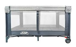 Romp & Roost Luxe Oversized Playard, Great for Twins or Play