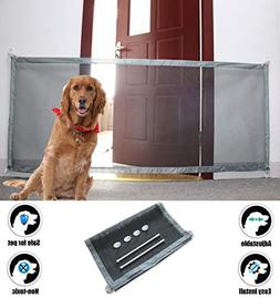Magic Gate for Dogs Cat Portable Folding Safe Guard for Pet
