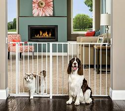 Carlson Maxi Walk Through Pet Gate, 50-59 Inches Wide, Hardw