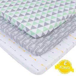 Pack n Play Playard Sheet Set | 3 Pack | 100% Super Soft Jer