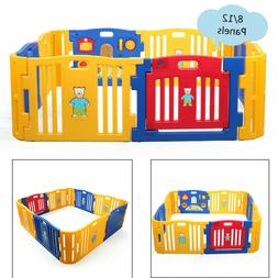 Baby Playpen -8/12 Panels- Kids Safety Fence Children Play Y
