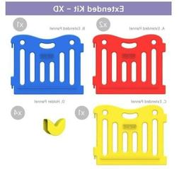 new babycare playpen multicolor 25 inch gate